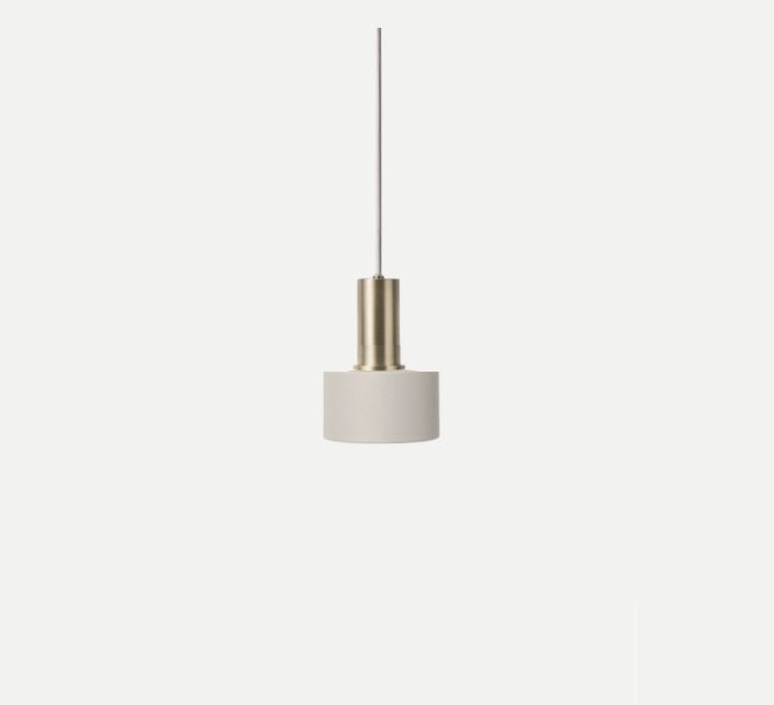 Collect lighting brass and disc shade  suspension pendant light  ferm living 5107 5126  design signed 75533 product