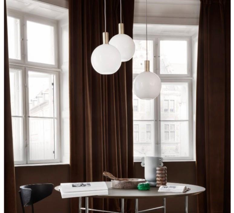 Laiton et sphere  suspension pendant light  ferm living 5107 5148  design signed 60326 product