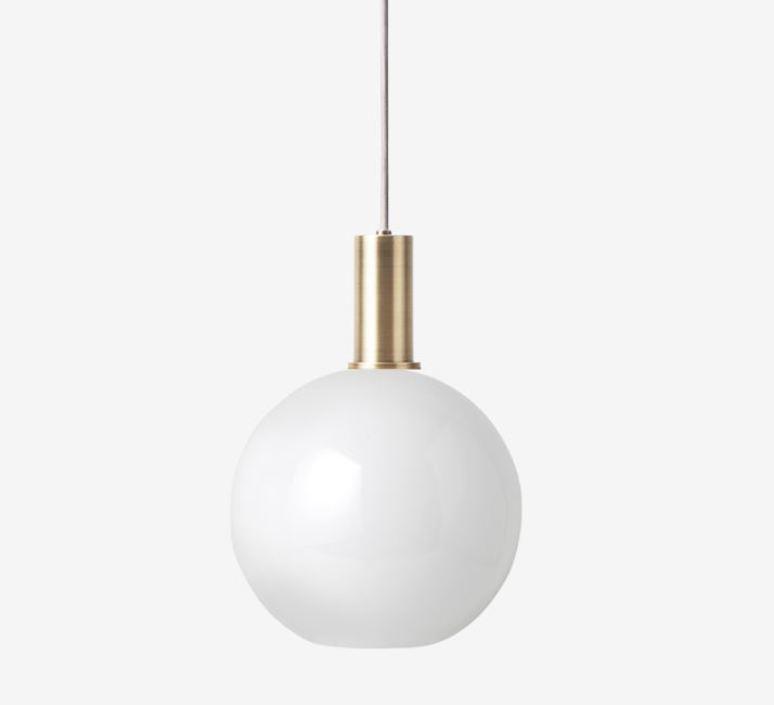 Laiton et sphere  suspension pendant light  ferm living 5107 5148  design signed 60327 product