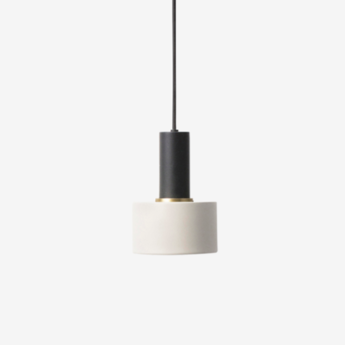 Suspension collect lighting noir laiton gris clair o12cm h22cm ferm living normal