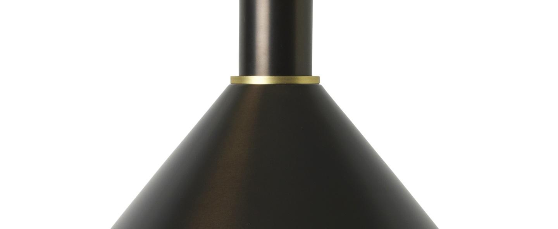 Suspension collect lighting socket high cone laiton noir l25cm o29cm ferm living normal
