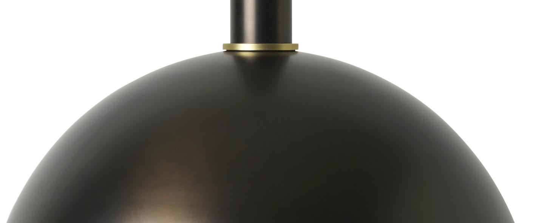 Suspension collect lighting socket high dome laiton noir l38cm o33cm ferm living normal