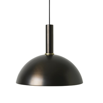 Suspension collect lighting socket high dome laiton noir l38cm o33cm ferm living normal