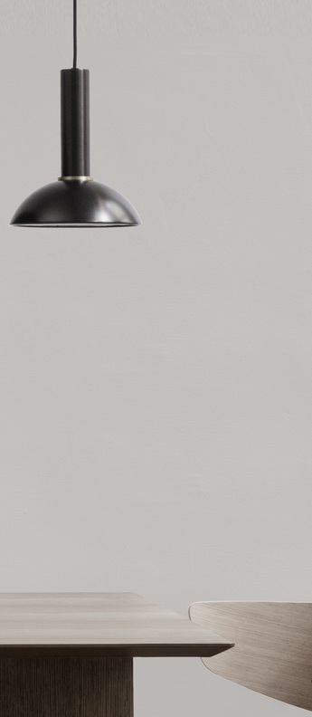 Suspension collect lighting socket high hoop laiton noir l20cm o24cm ferm living normal