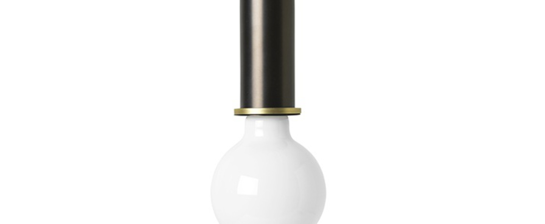 Suspension collect lighting socket high laiton noir o6cm h17cm ferm living normal