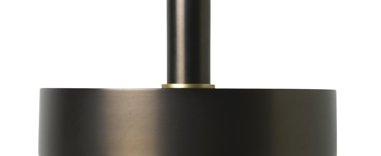 Suspension collect lighting socket high record laiton noir l30cm o24cm ferm living normal