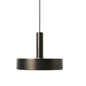 Suspension collect lighting socket high record laiton noir l30cm o24cm ferm living normal