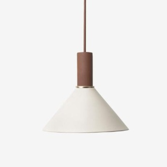 Suspension collect lighting socket low cone gris terracotta o25cm h22 2cm ferm living normal