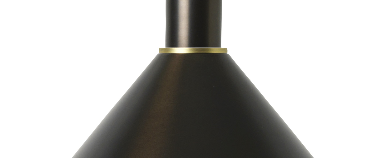 Suspension collect lighting socket low cone laiton noir l25cm o22 2cm ferm living normal