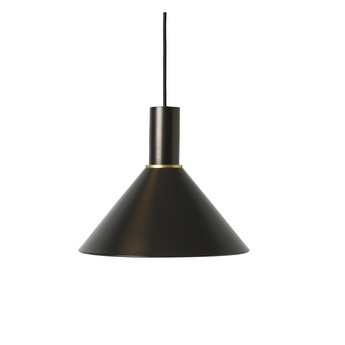 Suspension collect lighting socket low cone laiton noir l25cm o22 2cm ferm living normal