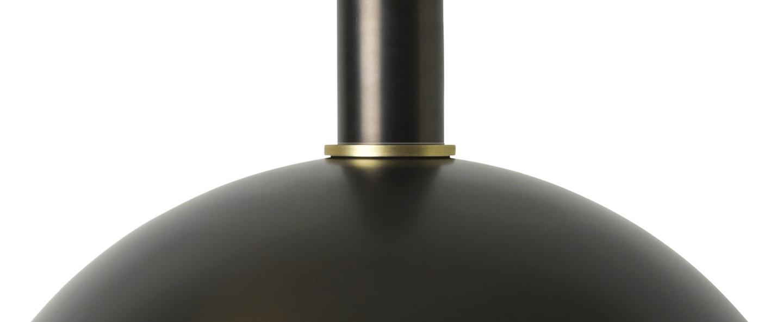 Suspension collect lighting socket low dome laiton noir l38cm o26 2cm ferm living normal