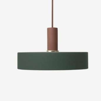 Suspension collect lighting socket low record terracotta o30cm h17 2cm ferm living normal