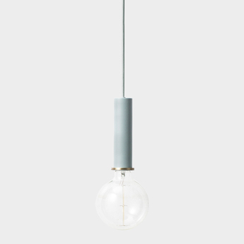 Suspension collect lighting socket pendant high bleu led o6cm h17cm ferm living normal