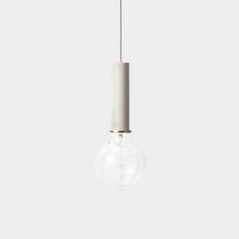 Suspension collect lighting socket pendant high gris or led o6cm h17cm ferm living normal