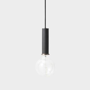 Suspension collect lighting socket pendant high noir et or led o6cm h17cm ferm living normal