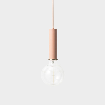 Suspension collect lighting socket pendant high rose led o6cm h17cm ferm living normal