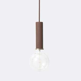 Suspension collect lighting socket pendant high rouge led o6cm h17cm ferm living normal