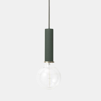 Suspension collect lighting socket pendant high vert led o6cm h17cm ferm living normal