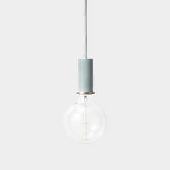 Suspension collect lighting socket pendant low bleu led o6cm h10 2cm ferm living normal