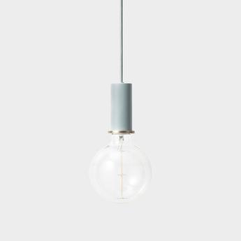 Suspension collect lighting socket pendant low bleu led o6cm h10 2cm ferm living normal