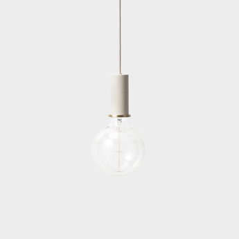 Suspension collect lighting socket pendant low gris or led o6cm h10 2cm ferm living normal