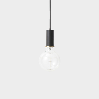 Suspension collect lighting socket pendant low noir et or led o6cm h10 2cm ferm living normal