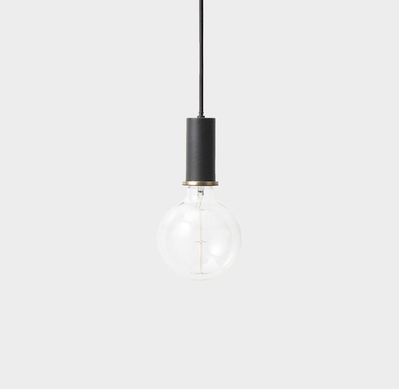 suspension collect lighting socket pendant low noir et or led 6cm h10 2cm ferm living. Black Bedroom Furniture Sets. Home Design Ideas