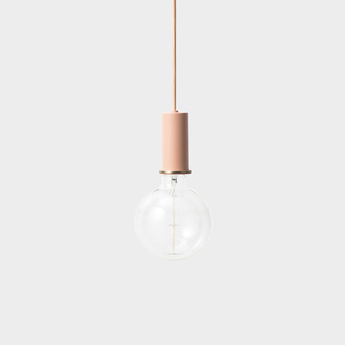 Suspension collect lighting socket pendant low rose led o6cm h10 2cm ferm living normal