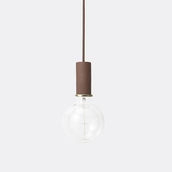 Suspension collect lighting socket pendant low rouge led o6cm h10 2cm ferm living normal