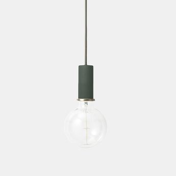 Suspension collect lighting socket pendant low vert led o6cm h10 2cm ferm living normal
