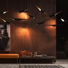 Coltrane studio delightfull delightfull suspension coltrane black gold luminaire lighting design signed 25590 thumb