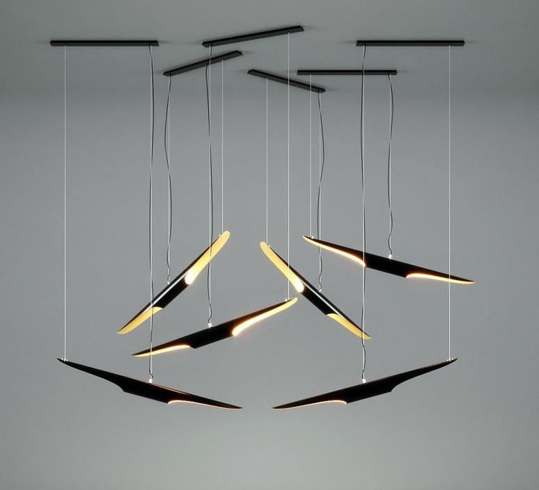Coltrane studio delightfull delightfull suspension coltrane black gold luminaire lighting design signed 25592 product