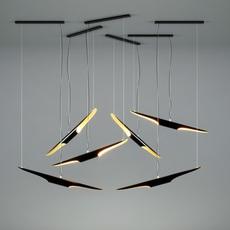 Coltrane studio delightfull delightfull suspension coltrane black gold luminaire lighting design signed 25592 thumb