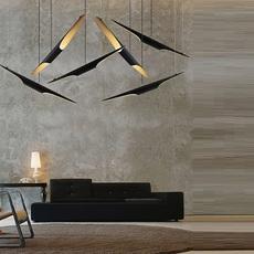 Coltrane studio delightfull delightfull suspension coltrane black gold luminaire lighting design signed 25593 thumb