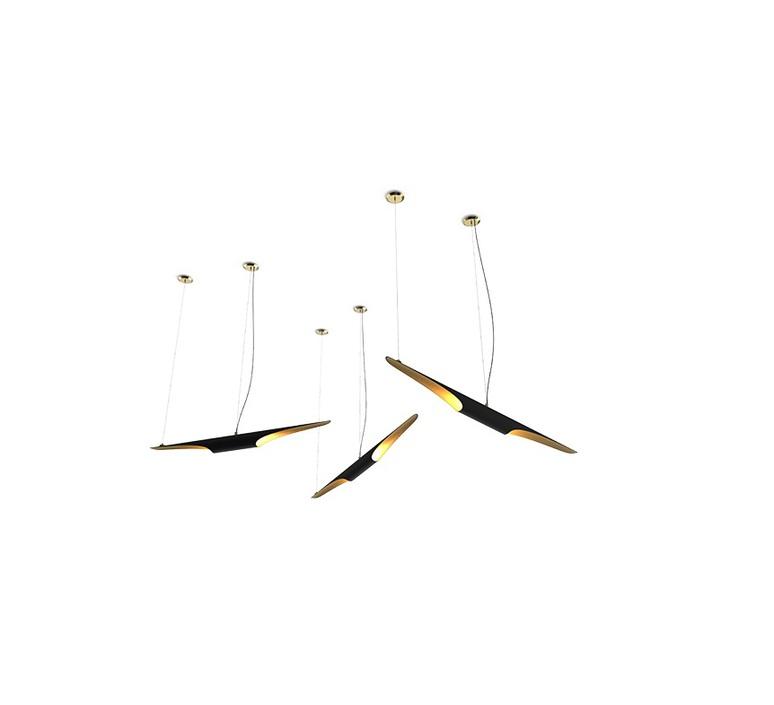 Coltrane studio delightfull delightfull suspension coltrane black gold luminaire lighting design signed 25597 product