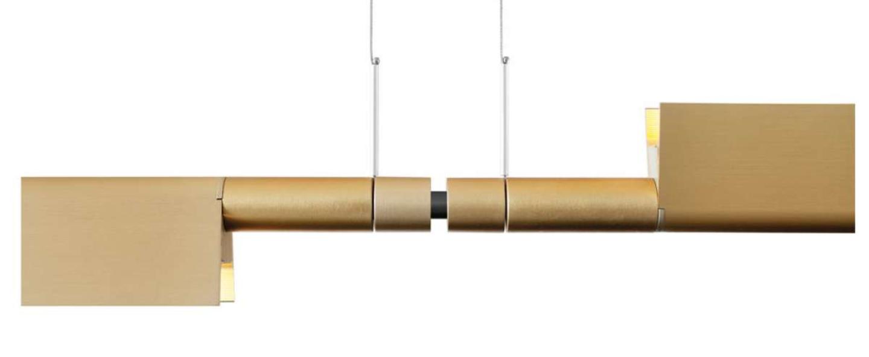 Suspension compendium d81s double laiton led 1227lm 3000k l325cm h4 57cm luceplan normal