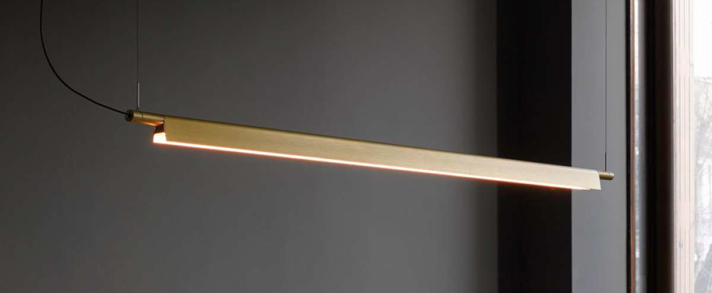 Suspension compendium d81s laiton led 1227lm 2700k l162 5cm h4 57cm luceplan normal