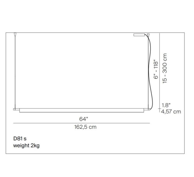 Compendium d81s daniel rybakken suspension pendant light  luceplan 1d810s000001  design signed 54879 product