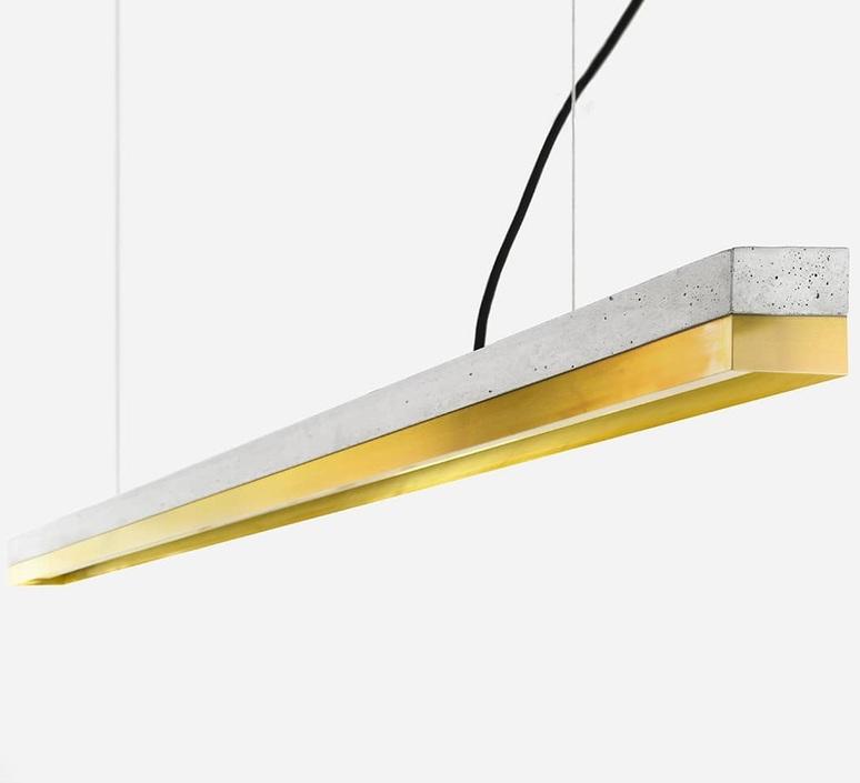 Concrete brass long stefan gant suspension pendant light  gantlights  c3 hg ms dc  design signed nedgis 119627 product