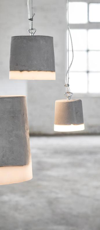 Suspension concrete gris blanc o12cm h13cm serax normal