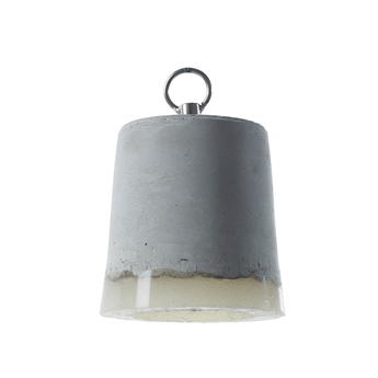 Suspension concrete gris blanc o12cm h13cm serax normal