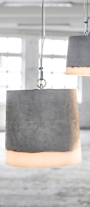 Suspension concrete gris blanc o34cm h38cm serax normal