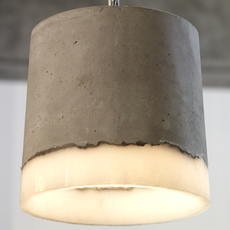 Concrete renate vos suspension pendant light  serax b7212510a  design signed 59946 thumb