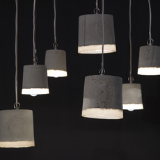 Concrete renate vos suspension pendant light  serax b7212510a  design signed 59947 thumb