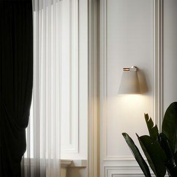 Suspension cone light w blanc mat cuivre l30cm h32cm b lux normal