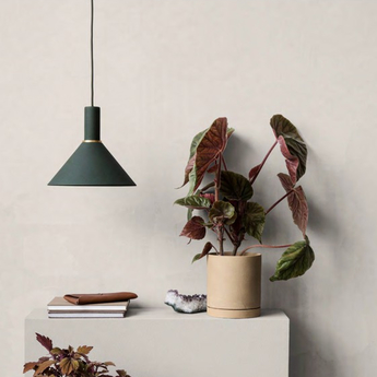 Suspension cone shade vert o25cm h12cm ferm living normal