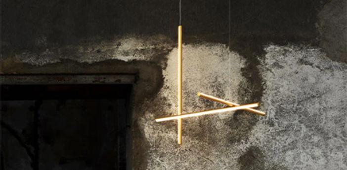 Suspension coordinates suspension 1 champagne led 2700k 1920lm o78 2cm h78 2cm flos normal