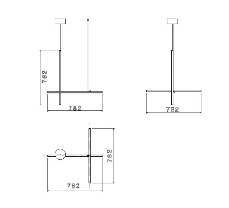 Coordinates suspension 1 cliii michael anastassiades suspension pendant light  flos f1842044  design signed nedgis 99370 product