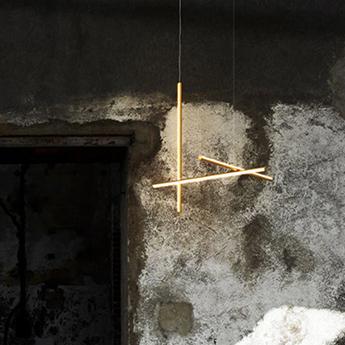 Suspension coordinates suspension 1 cliii champagne led 2700k 1920lm o78 2cm h78 2cm flos normal