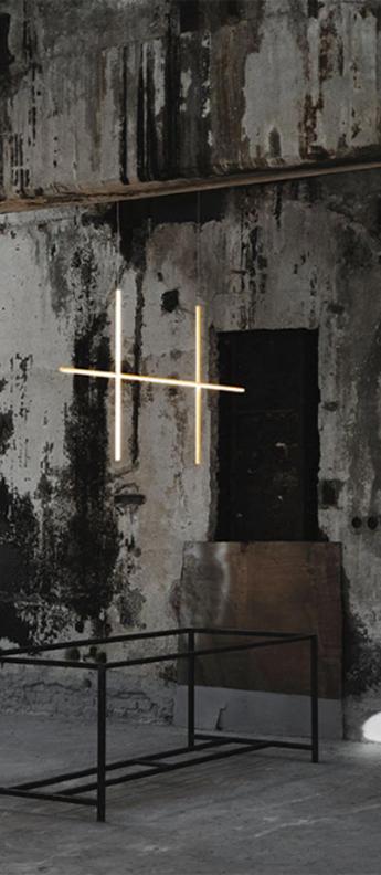 Suspension coordinates suspension 2 champagne led 2700k 2960lm l176 2cm h92 2cm flos normal